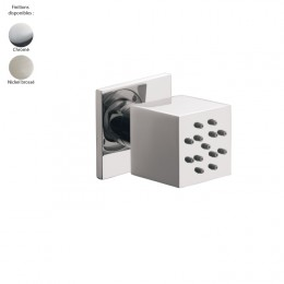 Douchette latérale orientable design carré de Treemme, 2 finitions
