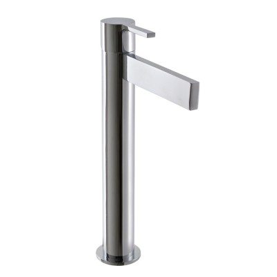 Mitigeur lavabo design TIME_OUT, bec haut 19 cm, 4 finitions