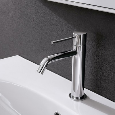 Mitigeur lavabo design UP, bec haut 10 cm, saillie 13 cm, 4 finitions