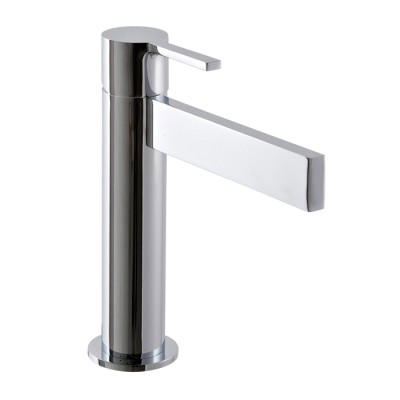 Mitigeur lavabo design TIME_out, bec haut 12 cm, 4 finitions