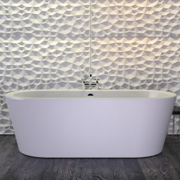 Baignoire design ilot HOT179,5x79,5 cm, blanc brillant_P2