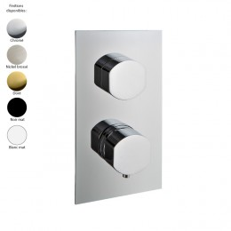 Mitigeur thermostatique douche encastré, inverseur 3 sorties, design HEDO de Treemme, 5 finitions