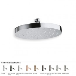 Pommeau de douche rond Ø 19 cm design EXECUTIVE, laiton 9 finitions
